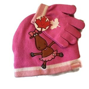 Stone Age Cute Girls Hat and Glove Set from Canada